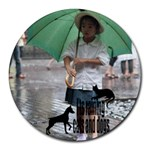 Raining cats and dogs - Mousepad - Round Mousepad