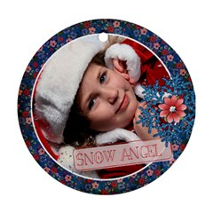 Snow Angel Ornament By Mikki   Round Ornament (two Sides)   E3b9auy4op9s   Www Artscow Com Back
