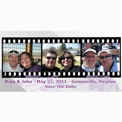 Save The Date Cards By Kara Bennis   4  X 8  Photo Cards   Ou0k23m15op5   Www Artscow Com 8 x4 Photo Card - 1