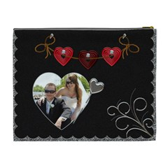 Love Story Xl Cosmetic Bag By Lil    Cosmetic Bag (xl)   Omso60m6i7jm   Www Artscow Com Back
