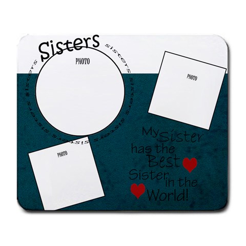 Sisters Mousepad By Amanda Bunn   Large Mousepad   Bzehtxgb4qgz   Www Artscow Com Front