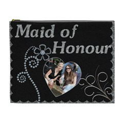 Maid Of Honour Xl Cosmetic Bag (canadian Spelling) By Lil    Cosmetic Bag (xl)   3uag7cqj01vt   Www Artscow Com Front