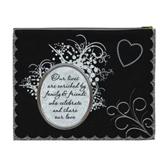 Maid Of Honour Xl Cosmetic Bag (canadian Spelling) By Lil    Cosmetic Bag (xl)   3uag7cqj01vt   Www Artscow Com Back