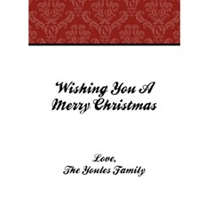 Merry Christmas 2010 5x7 Greeting Card By Klh   Greeting Card 5  X 7    Axofj16ni0jx   Www Artscow Com Back Inside