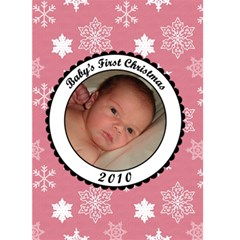 Baby s First Christmas 2010 5x7 Greeting Card By Klh   Greeting Card 5  X 7    L2okswi28126   Www Artscow Com Front Cover