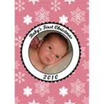 Baby s First Christmas 2010 5x7 Greeting Card - Greeting Card 5  x 7