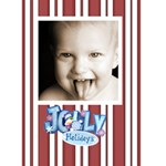 Jolly holidays 2 Christmas Card - Greeting Card 5  x 7