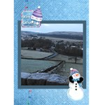 White Christmas snowman Christmas Card - Greeting Card 5  x 7