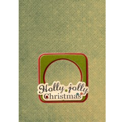 Merry Christmas Holly Jolly  Christmas Card By Catvinnat   Greeting Card 5  X 7    Y4t6ufvpau34   Www Artscow Com Back Cover