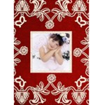 Classy Claret Christmas Card - Greeting Card 5  x 7