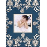 midnight blue lace Christmas Card - Greeting Card 5  x 7