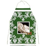 Christmas Lights hunter green  Full Print Apron