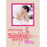 Pink Santa baby christmas card - Greeting Card 5  x 7
