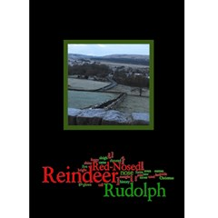 Rudolf The Red Nosed Reindeer Christmas Card By Catvinnat   Greeting Card 5  X 7    373jcae8j48u   Www Artscow Com Front Cover