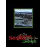 Rudolf the Red Nosed Reindeer Christmas card - Greeting Card 5  x 7