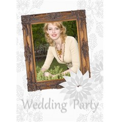 Wedding Party By Joely   Greeting Card 5  X 7    R9ev0e6tf6l8   Www Artscow Com Front Cover