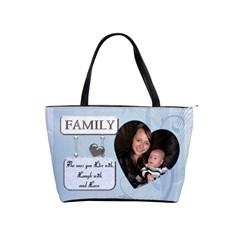 Family Shoulder Handbag By Lil    Classic Shoulder Handbag   Ckf5joqzbegy   Www Artscow Com Front