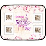 Santa Baby Chocolate Pink Mini Fleece - Fleece Blanket (Mini)
