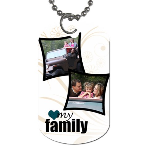 2 Photo My Family Tag By Amanda Bunn   Dog Tag (one Side)   Yelxyhtf9lxy   Www Artscow Com Front