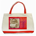 santa baby red christmas  tote - Classic Tote Bag (Red)