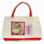 santa baby red christmas  tote 2 - Classic Tote Bag (Red)