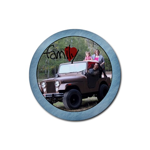 We Are Family Coaster By Amanda Bunn   Rubber Round Coaster (4 Pack)   Gmdx2xt2fsyx   Www Artscow Com Front
