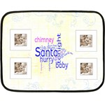 Santa Baby Lemon & Blue Mini Fleece - Mini Fleece Blanket