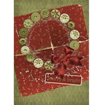 Holiday Card, wreath - Greeting Card 5  x 7
