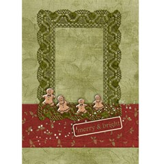 Holiday Card, Gingerbread Family By Mikki   Greeting Card 5  X 7    7wtk6rkbpqoy   Www Artscow Com Front Cover