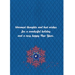 Holiday Card, Snowflakes By Mikki   Greeting Card 5  X 7    H5b8h3anjmqi   Www Artscow Com Back Inside