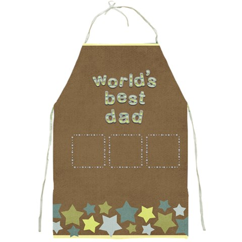 Best Dad Apron By Shelly   Full Print Apron   147chdhntj1o   Www Artscow Com Front