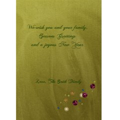 Family Holiday Card By Mikki   Greeting Card 5  X 7    Jygxb2xurgbk   Www Artscow Com Back Inside