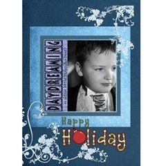 Happy Holiday Blue Christmas Card By Catvinnat   Greeting Card 5  X 7    X2951bv6fsr3   Www Artscow Com Front Cover