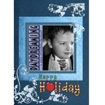 Happy Holiday Blue Christmas Card - Greeting Card 5  x 7