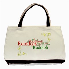 Rudolf The Red Nosed Reindeer Festive Tote Bag By Catvinnat   Basic Tote Bag (two Sides)   1817062s3sdf   Www Artscow Com Front