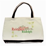 Rudolf the red nosed reindeer festive Tote bag - Basic Tote Bag (Two Sides)
