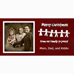 Merry Christmas Card By Amanda Bunn   4  X 8  Photo Cards   4y9fjrx8cwg1   Www Artscow Com 8 x4 Photo Card - 1