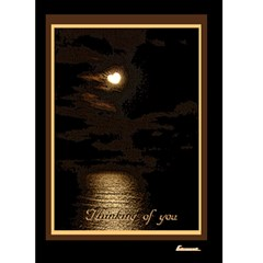 Heart Moon Edge Thinking Of You 5x7 Card By Ellan   Greeting Card 5  X 7    E4ix4cac8pag   Www Artscow Com Front Cover