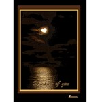 Heart Moon Edge thinking of you 5x7 card - Greeting Card 5  x 7