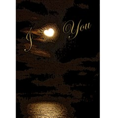 Heart Moon Edge Thinking Of You 5x7 Card By Ellan   Greeting Card 5  X 7    E4ix4cac8pag   Www Artscow Com Back Inside