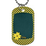 Sweet Harvest Checker Tag - Dog Tag (One Side)