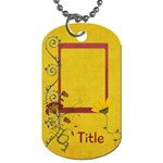 Sweet Harvest Floral Tag - Dog Tag (One Side)