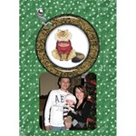 Cat Christmas Card - Greeting Card 5  x 7