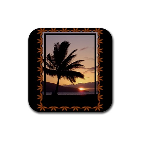 Sunset3 Coaster By Ellan   Rubber Coaster (square)   Eva4k19loz04   Www Artscow Com Front