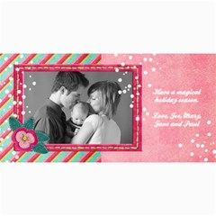 4x8 Holiday Photo Card Pink Snow By Mikki   4  X 8  Photo Cards   Bq2mwgwaz3r0   Www Artscow Com 8 x4  Photo Card - 4