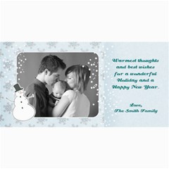 4x8 Holiday Photo Card Snowman By Mikki   4  X 8  Photo Cards   S4crqb3o3157   Www Artscow Com 8 x4 Photo Card - 1