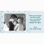 4x8 Holiday Photo Card-snowman - 4  x 8  Photo Cards