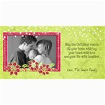 4x8 Holiday Photo Card, Poinsetta2 - 4  x 8  Photo Cards