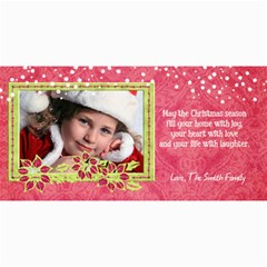 4x8 Holiday Photo Card, Poinsettia1 By Mikki   4  X 8  Photo Cards   Yjkta3effayx   Www Artscow Com 8 x4 Photo Card - 4