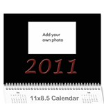12 month calendar (multiple photos) BLACK - Wall Calendar 11 x 8.5 (12-Months)